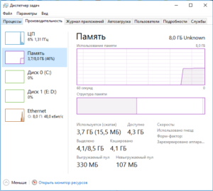 до ускорения Windows